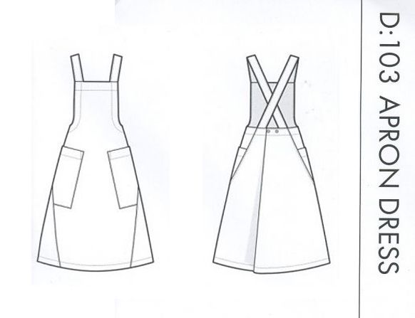 Apron Dress Easy Assembly Line Sewing Pattern