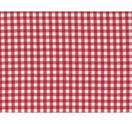"""RED 1//4/"""" GINGHAM POLY COTTON CHECK FABRIC CLOTH IDEAL FOR CLOTHS//DRESSES"""
